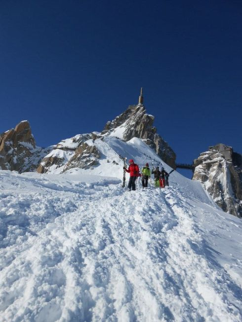 Descending from the Aiguille du Midi