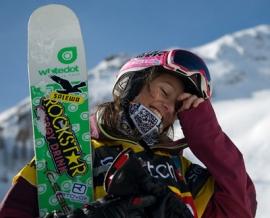 Austrian freeskier Eva Walkner
