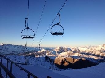 High above Les 2 Alpes
