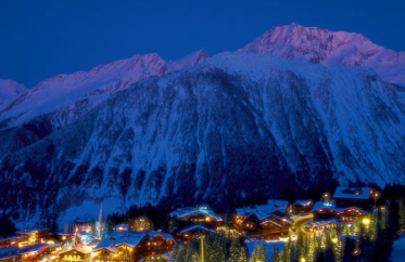 Courchevel by night.