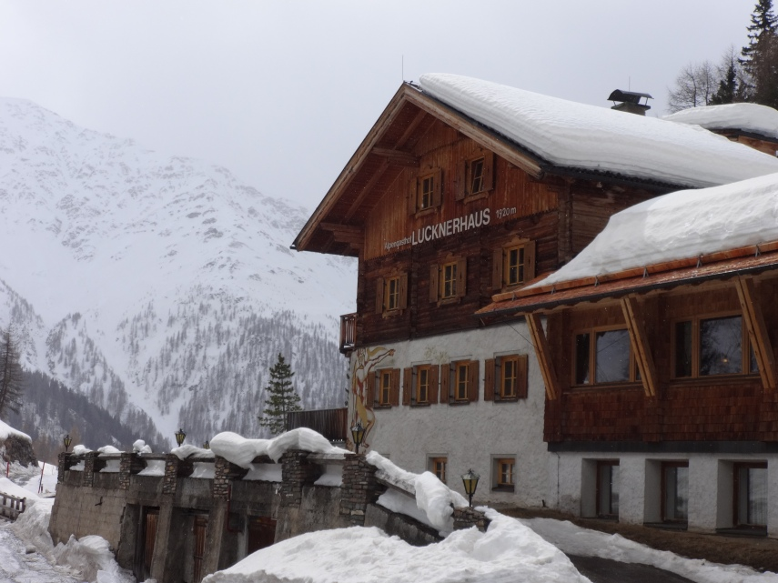 The Lucknerhaus is a popular base for ski tourers