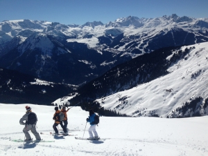 Off piste in La Plagne