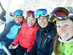 The women's test team on our favourite chairlift - the Hohemutbahn