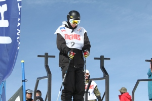 Myself at the top of the skiercross course