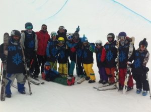 Halfpipe skiers, unite!