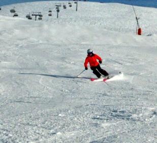 Piste skiing in Obergurgl