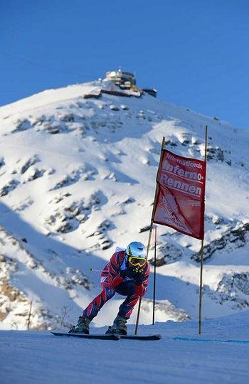 The iconic Schilthorn forms the start of the race