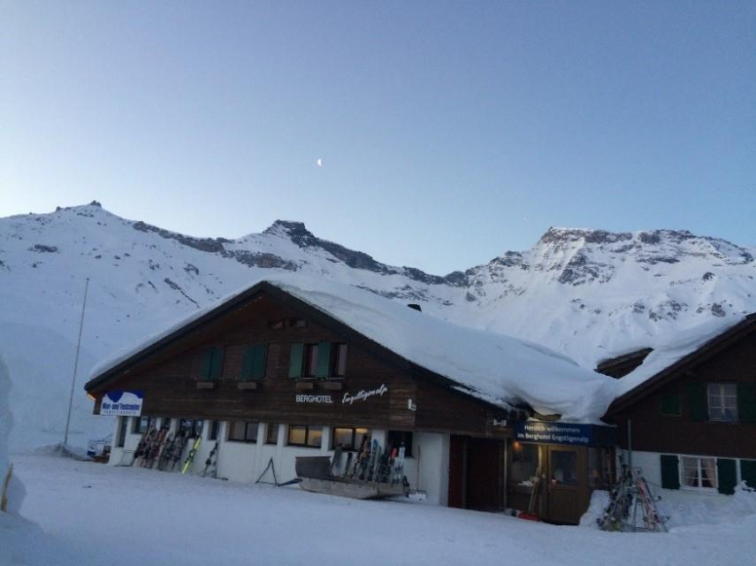 The Berghotel at sunrise