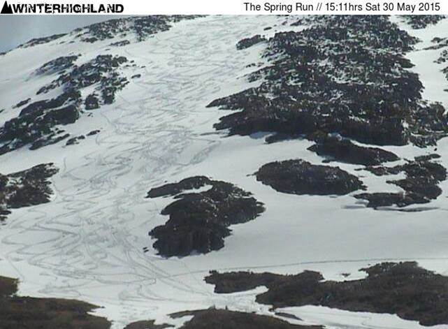 The Spring Run at Glencoe is still loaded and giving fresh tracks as late as May 30th