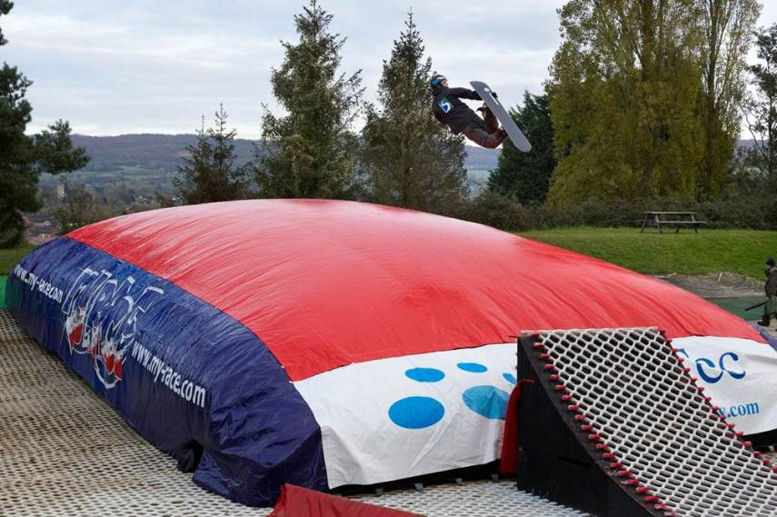 Gloucester Ski Centre's airbag adds to the all-round appeal of the ski hill