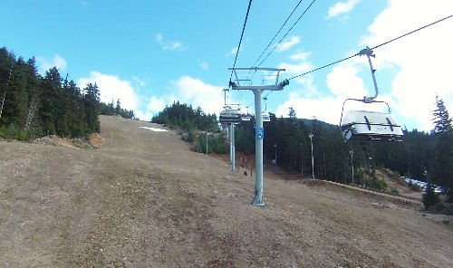 Ski resort with no snow
