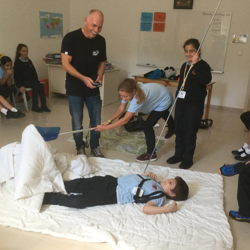 avalanche safety training with children in school
