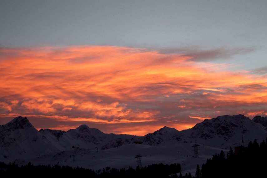 arosa sunset