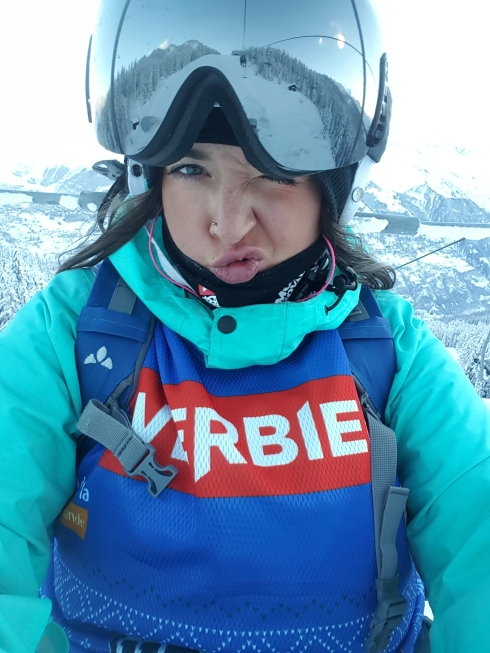 angelica sykes skiing in verbier