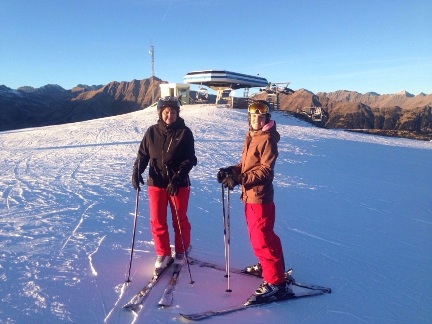 skiing in racines