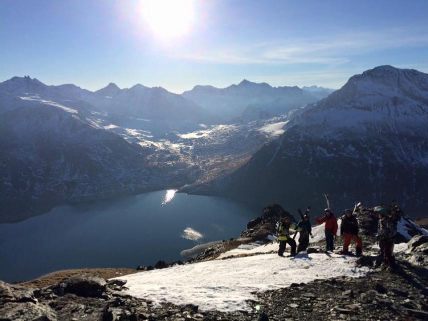 ski group in val clenis in december 2015