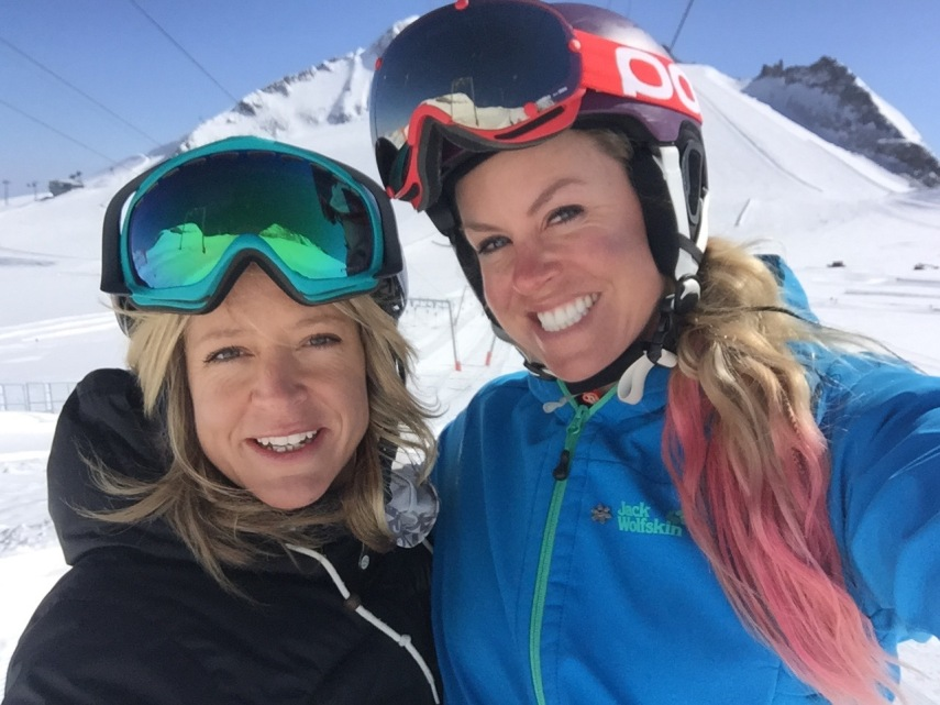 Chemmy Alcott and Jenny Jones