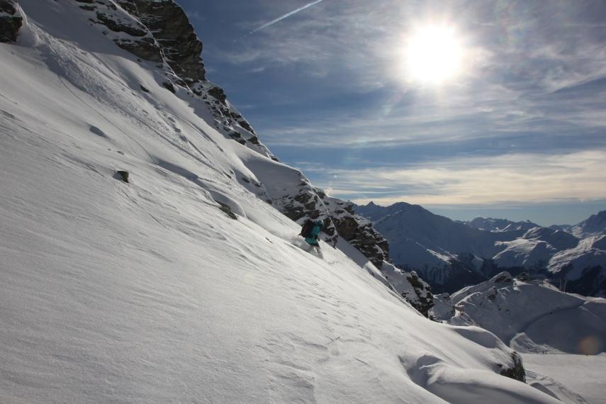 sun slopes mountains verbier