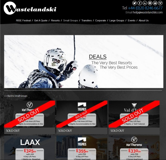 wasteland ski deals website student
