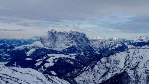 View towards the Wilder Kaiser from Steinplatte