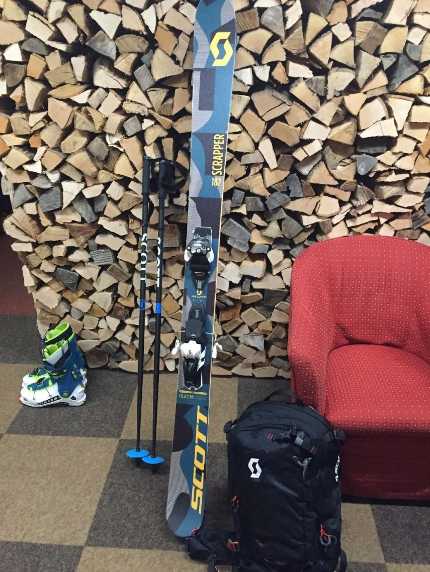 scott skis and boots equipment