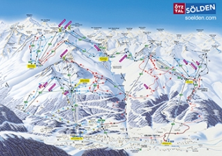 Soelden piste map