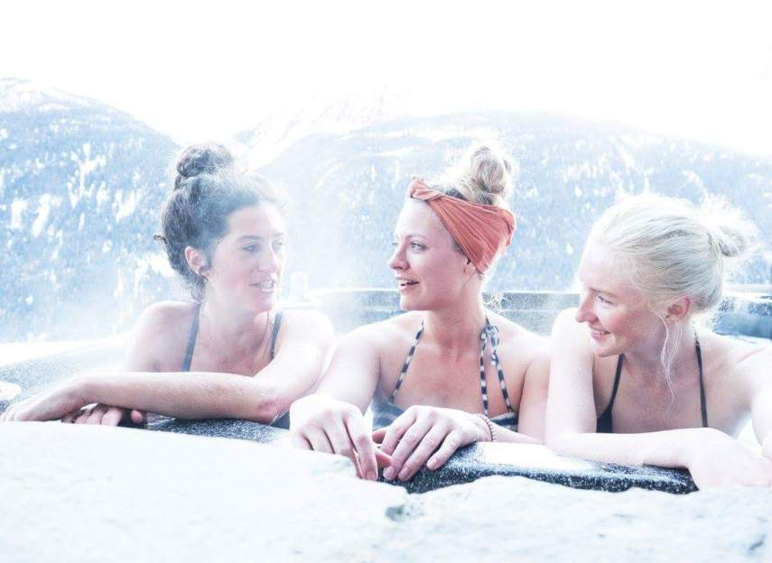 la rosiere yoga retreat mountains alps relaxing hot tub