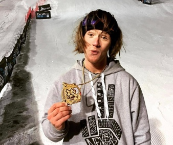 Woodsy with his X Games Gold Medal